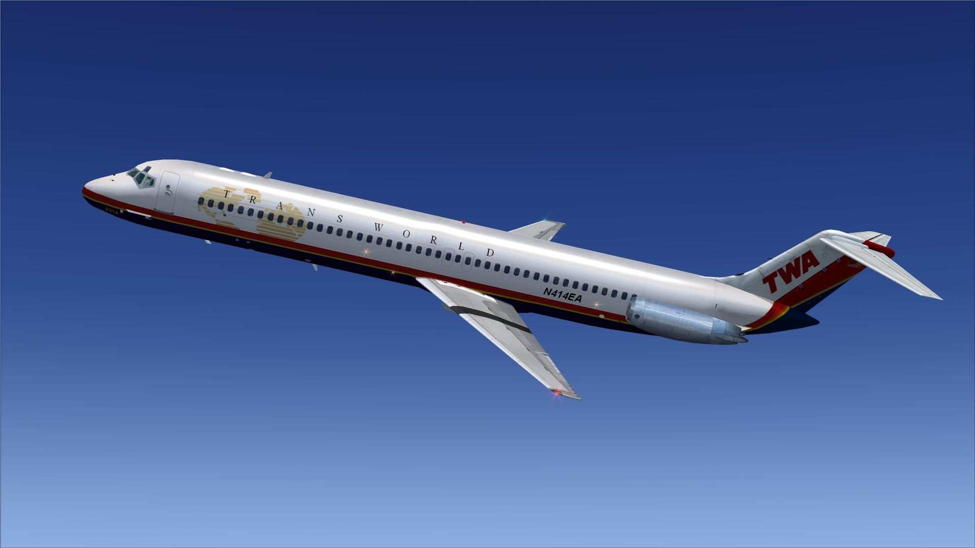 Trans World Airlines Douglas DC 9 51 for FSX 1920x1080