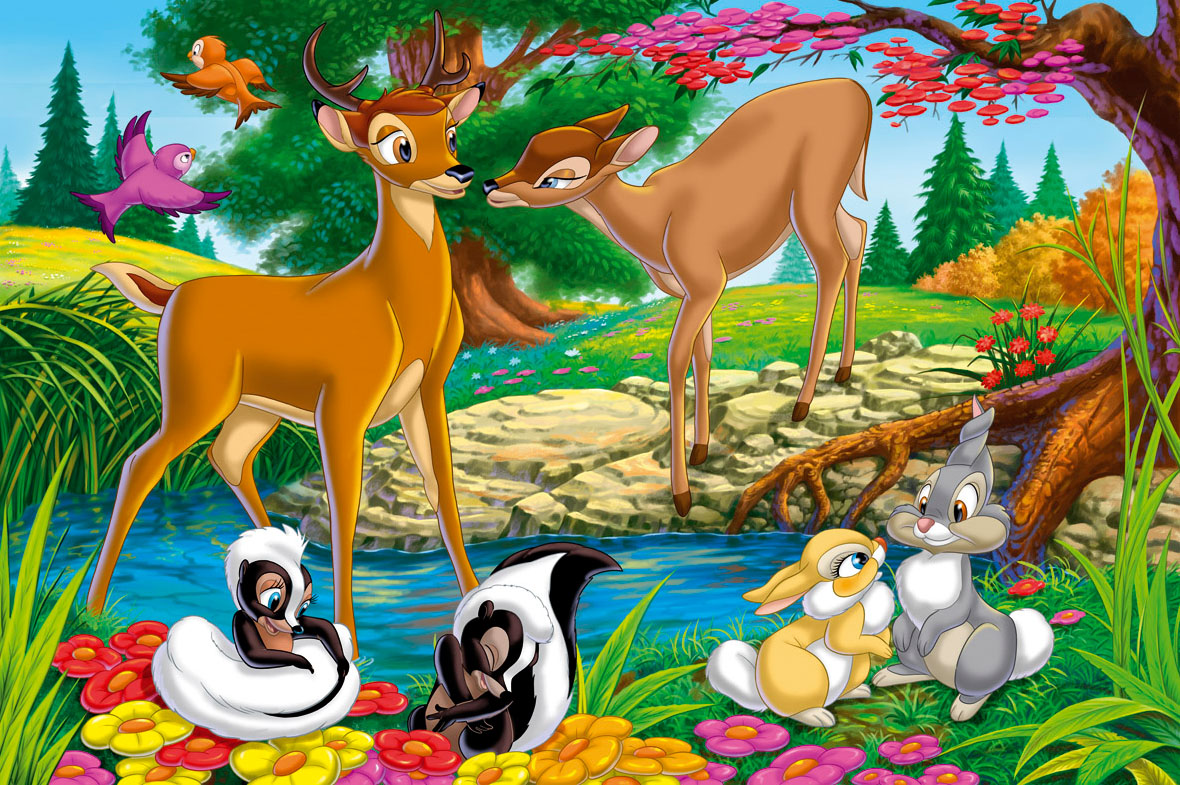 10 Disney Animal Bambi Characters Wallpaper 1180x785