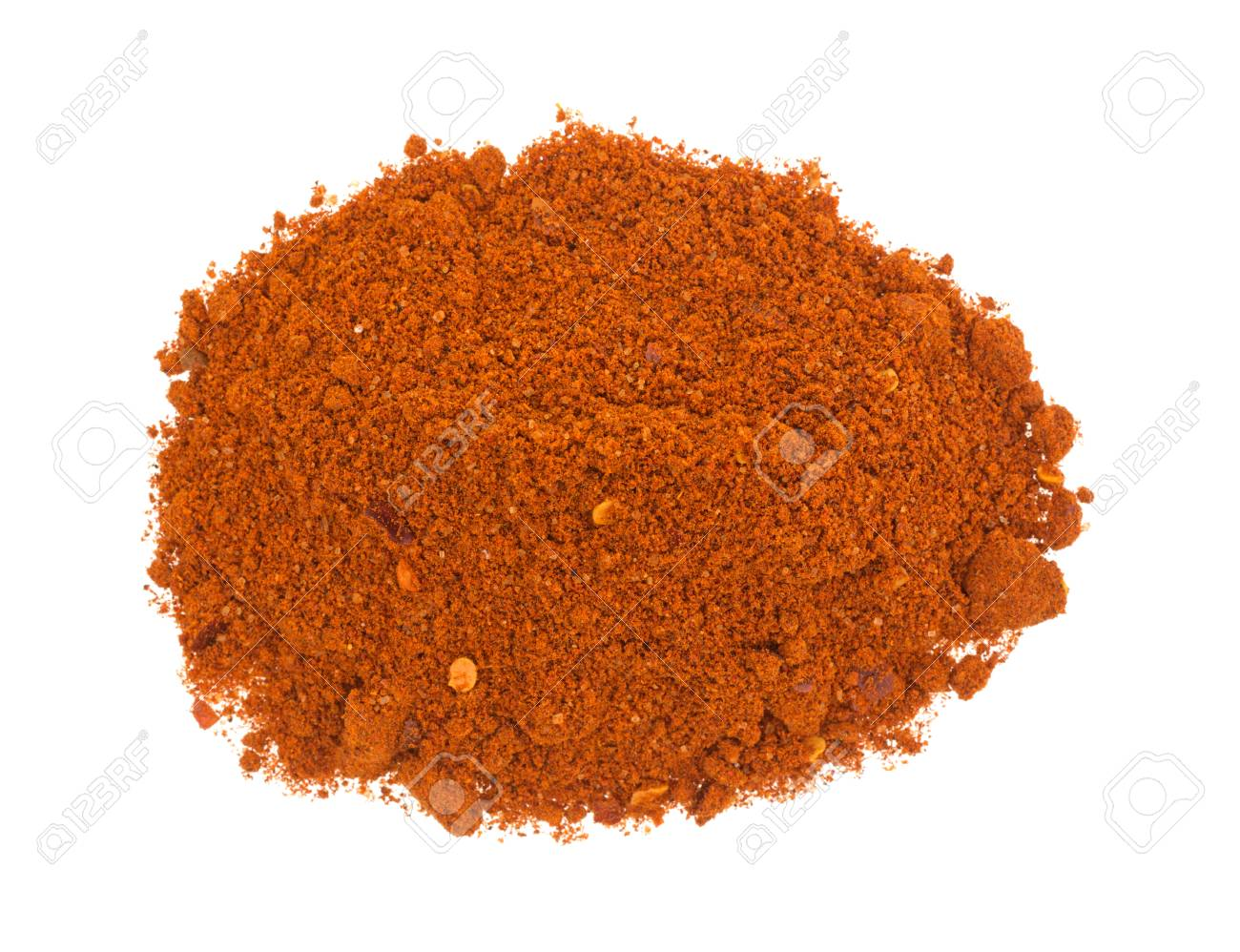 Top View Of A Small Portion Of Sriracha Seasonings Isolated On 1300x998