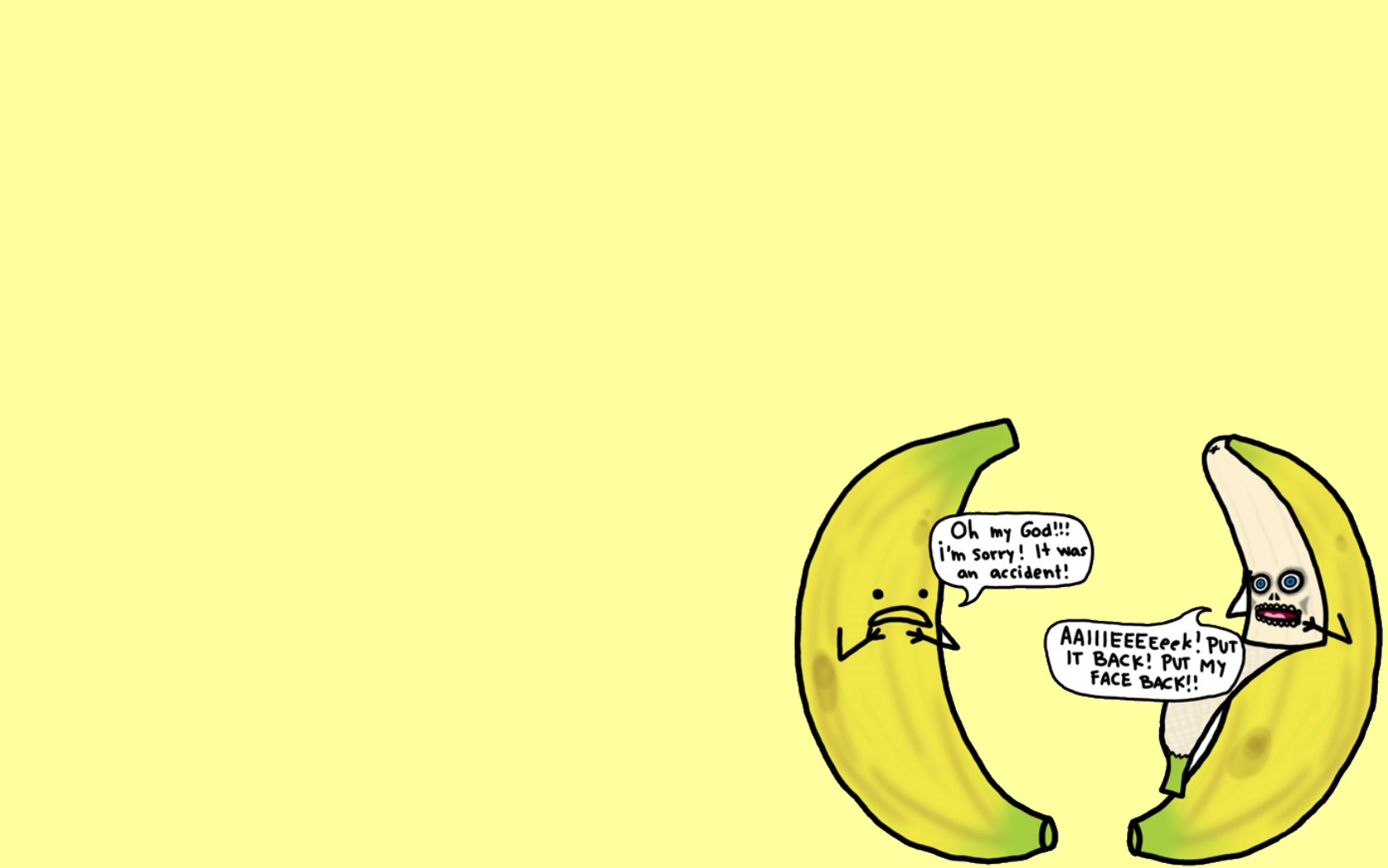 Yellow Humor Wallpaper 1680x1050 Yellow Humor Food Bananas Natalie 1680x1050