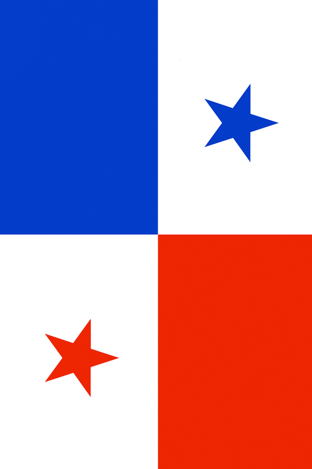 Panama Flag iPhone Wallpaper HD 640x960