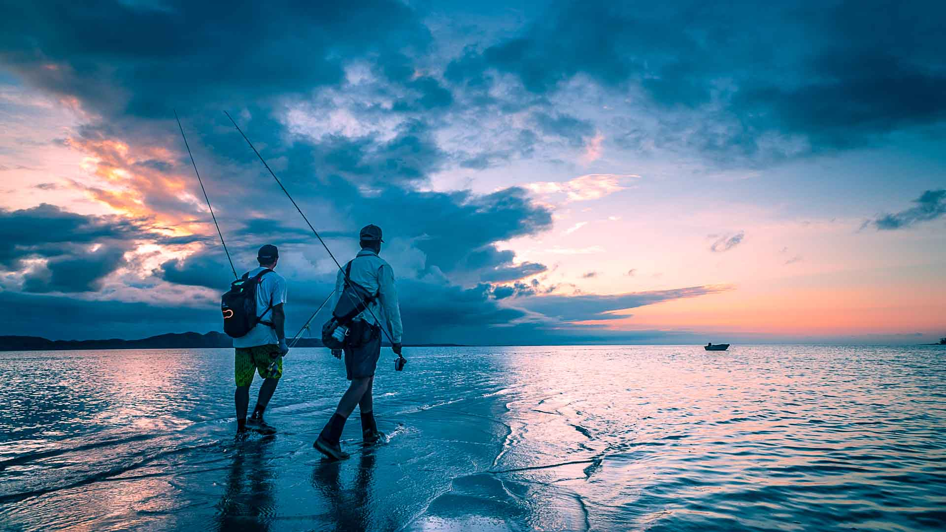 Download Fly fishing New Caledonia Saltwater Damien Brouste 1920x1080