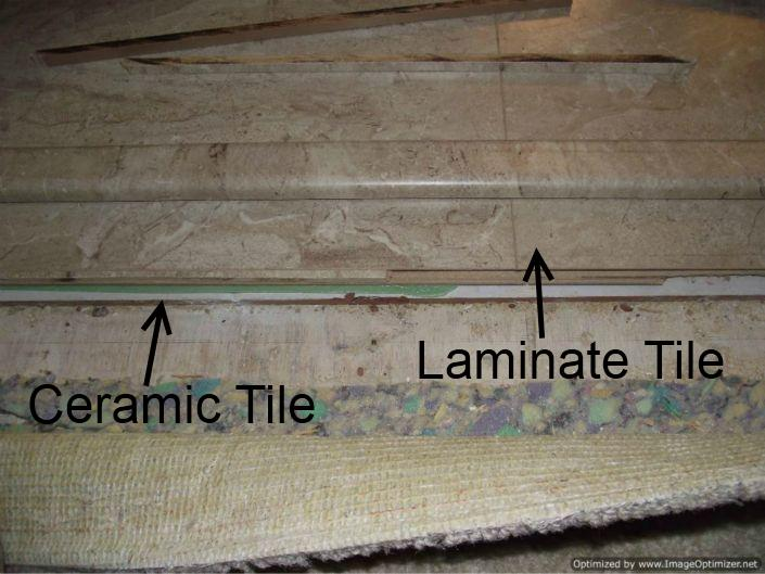 Another issue is where the laminate stops at the edge of the ceramic 705x529