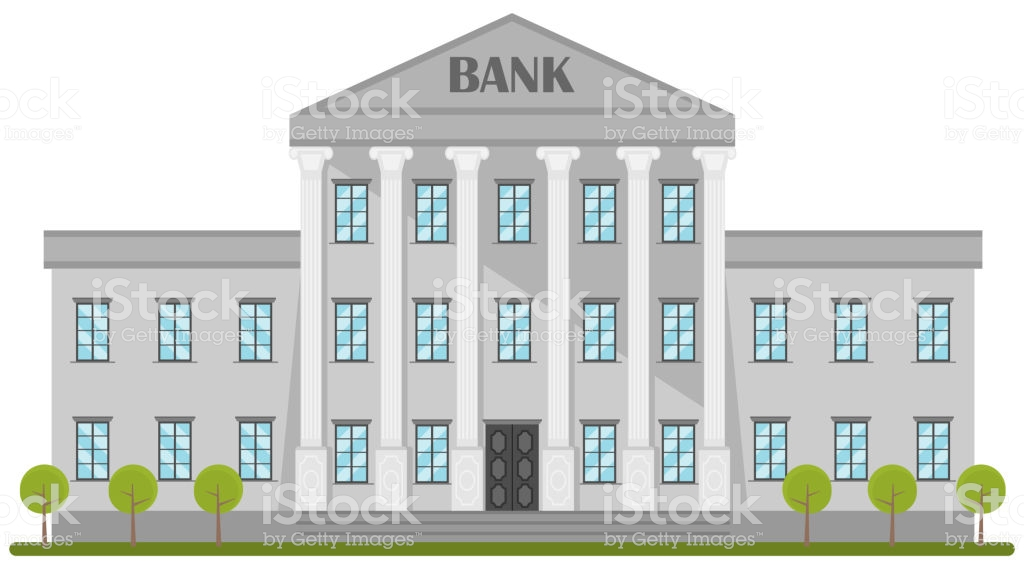 Cartoon Retro Bank Building Or Courthouse With Columns Vector 1024x569