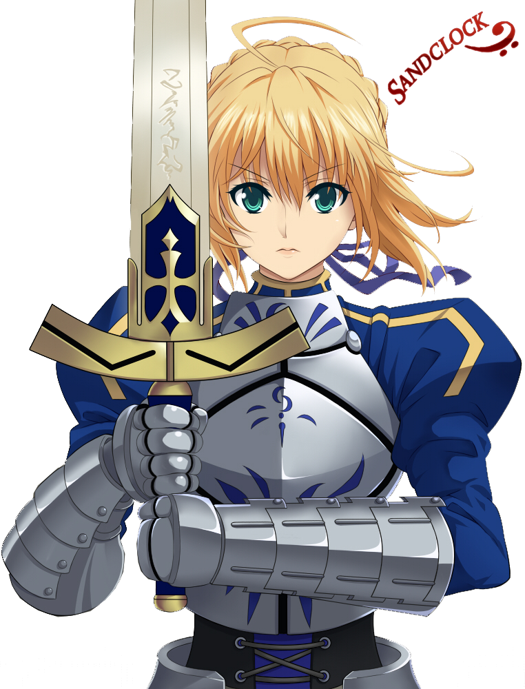 Saber Fate StayNight Render by sandclock 762x1000