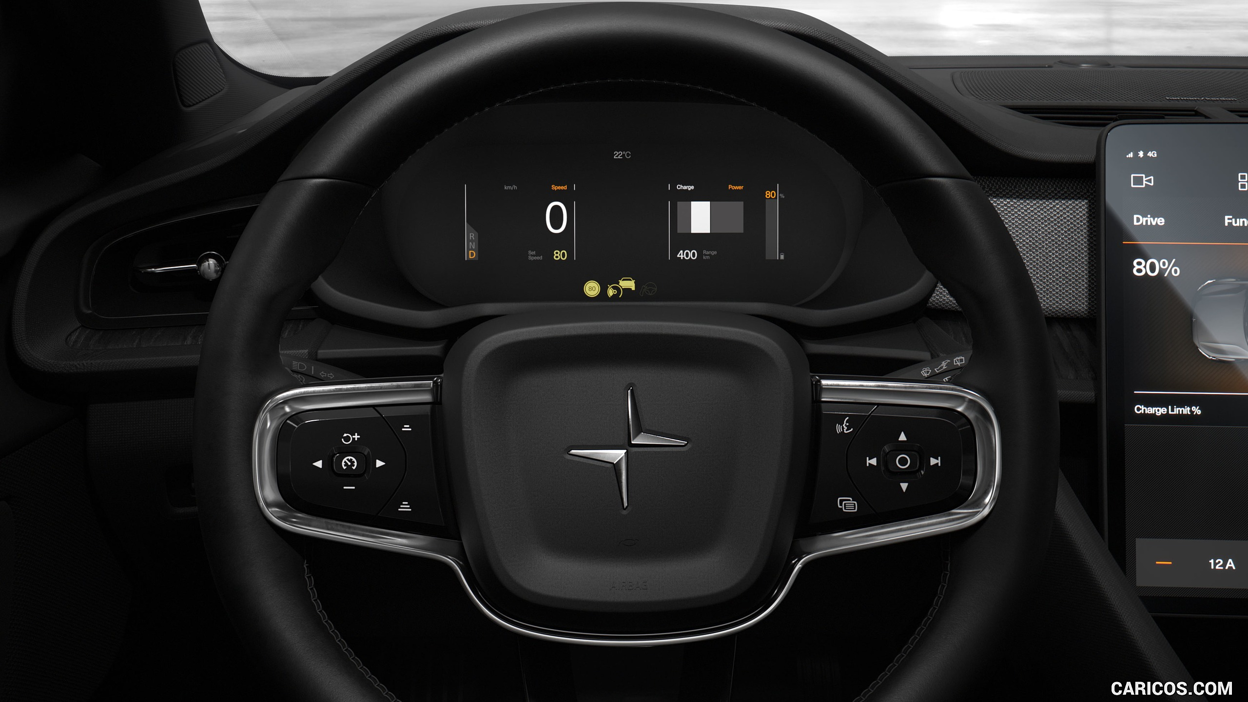 2020 Polestar 2   Interior Steering Wheel HD Wallpaper 14 2560x1440