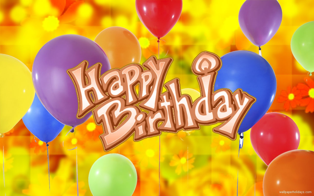 Description Download Birthday balloon 2013 wallpapers for 1280x800