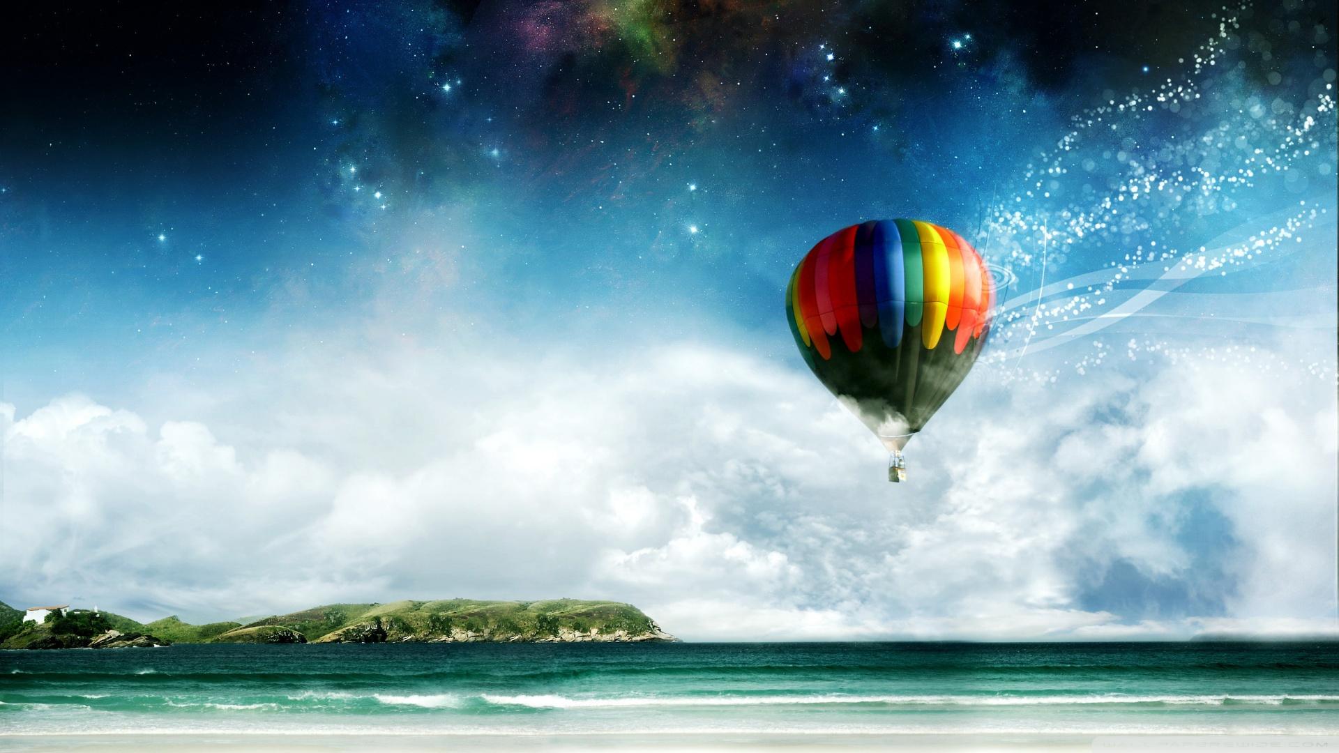 Colorful Hot Air Balloon Ride Wallpaper 1920x1080 Colorful Hot Air 1920x1080