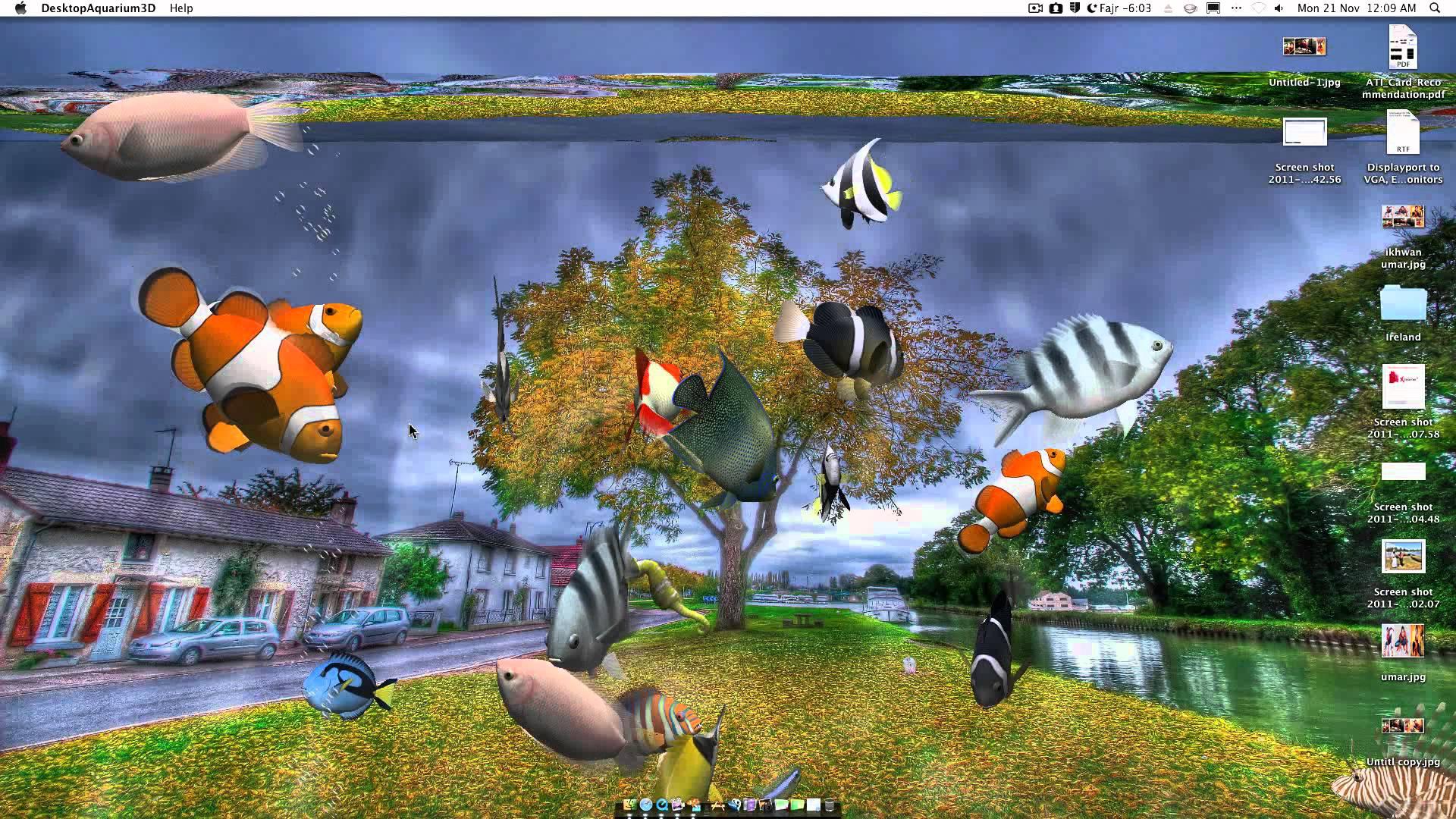 Desktop Aquarium 3D Live Wallpaper on Imac 1920x1080