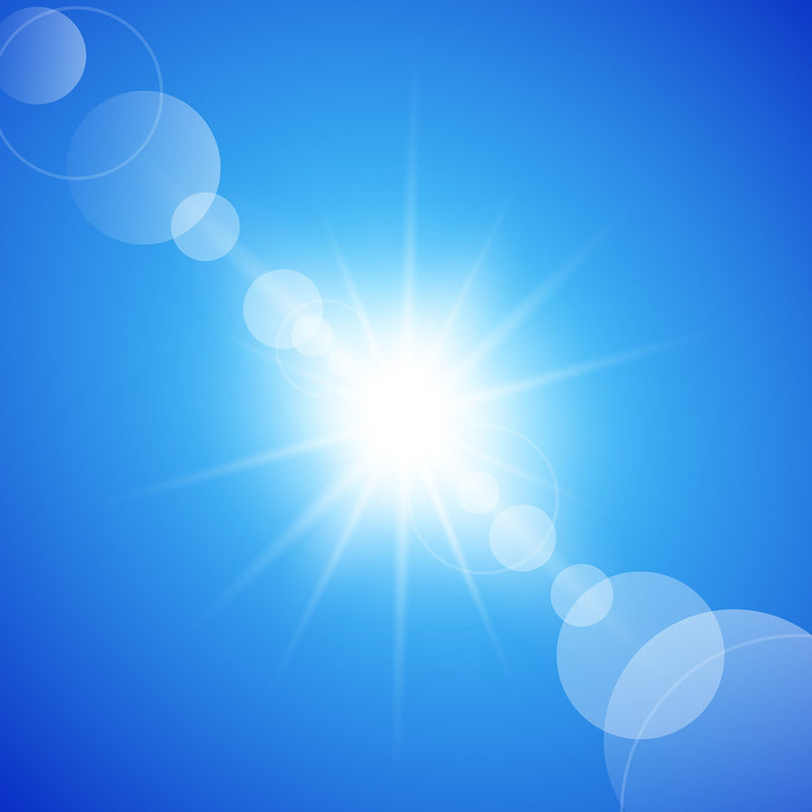 Abstract Sunny Blue Sky Background by vectorbackgrounds 894x894