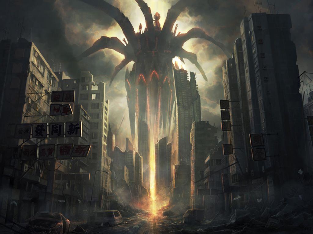 Anime Destroyed City for Pinterest 1024x768