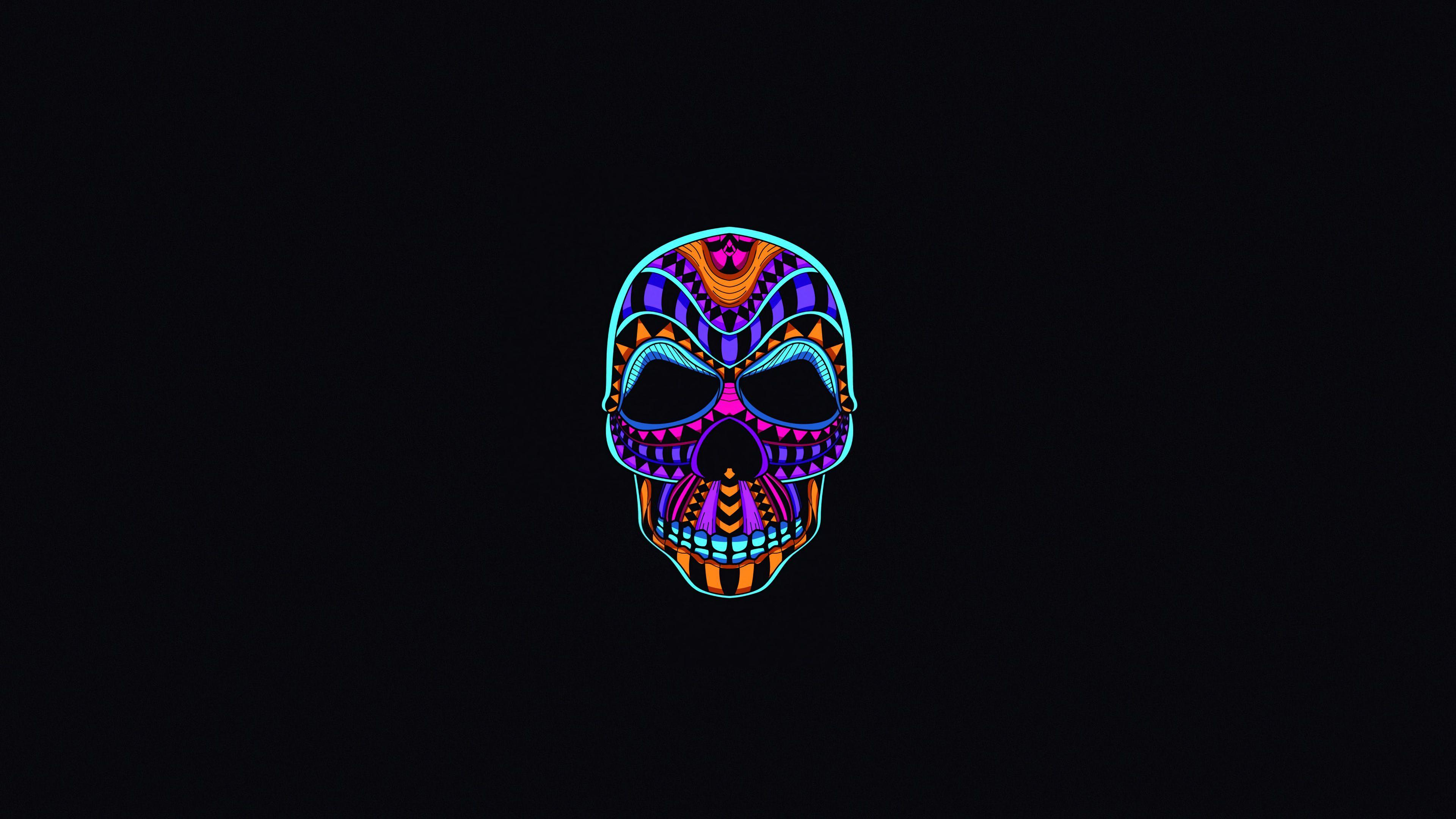Skull Dark Minimal skull wallpapers oled wallpapers minimalist 3840x2160