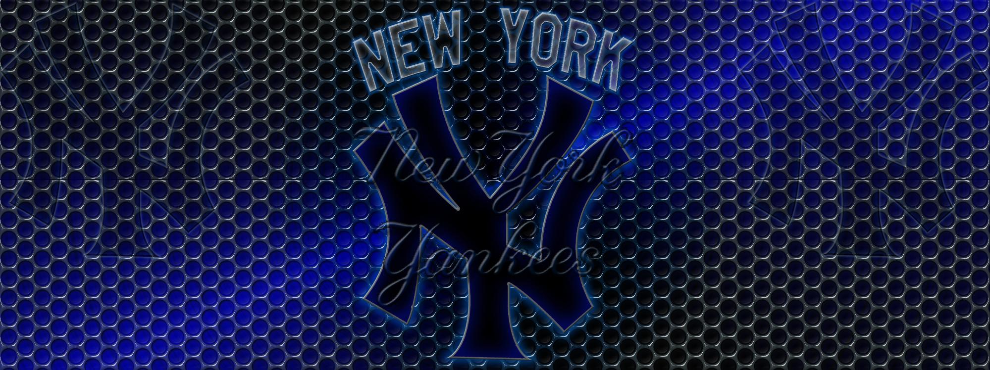 New York Yankees Logo Grid Wallpaper Download Wallpaper 1999x748