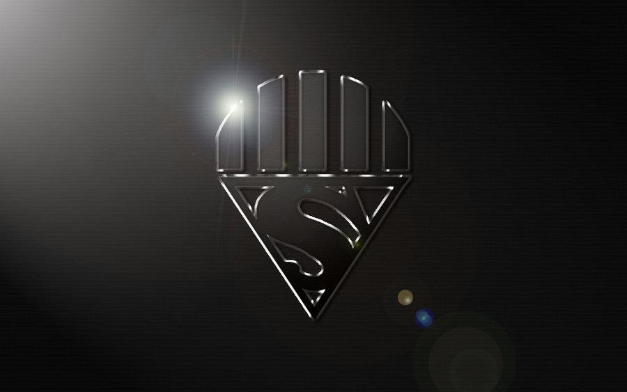 Superman Black And White Wallpaper Black lantern superman logo 900x563