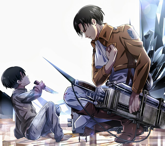 Levi Rivaille Attack on Titan Shingeki no Kyojin 3D Maneuver Gear Male 640x567
