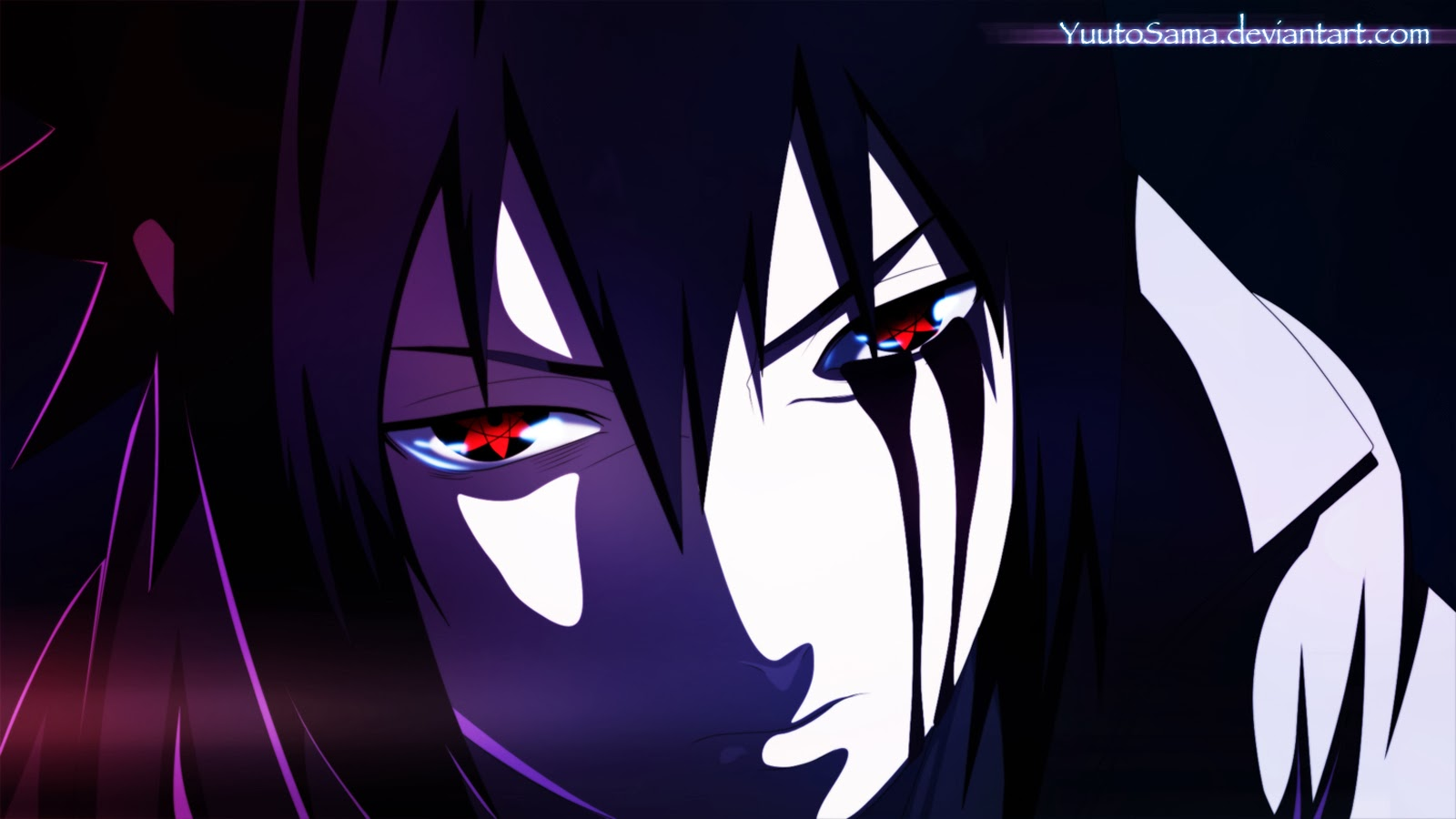 Sasuke Uchiha Mangekyou Sharingan Eyes Hd Anime Wallpaper 1600x900
