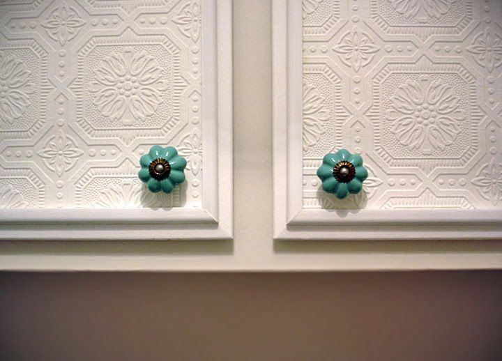wallpaper Cabinet Doors For the Home Pinterest Refacing Cabinets 720x518