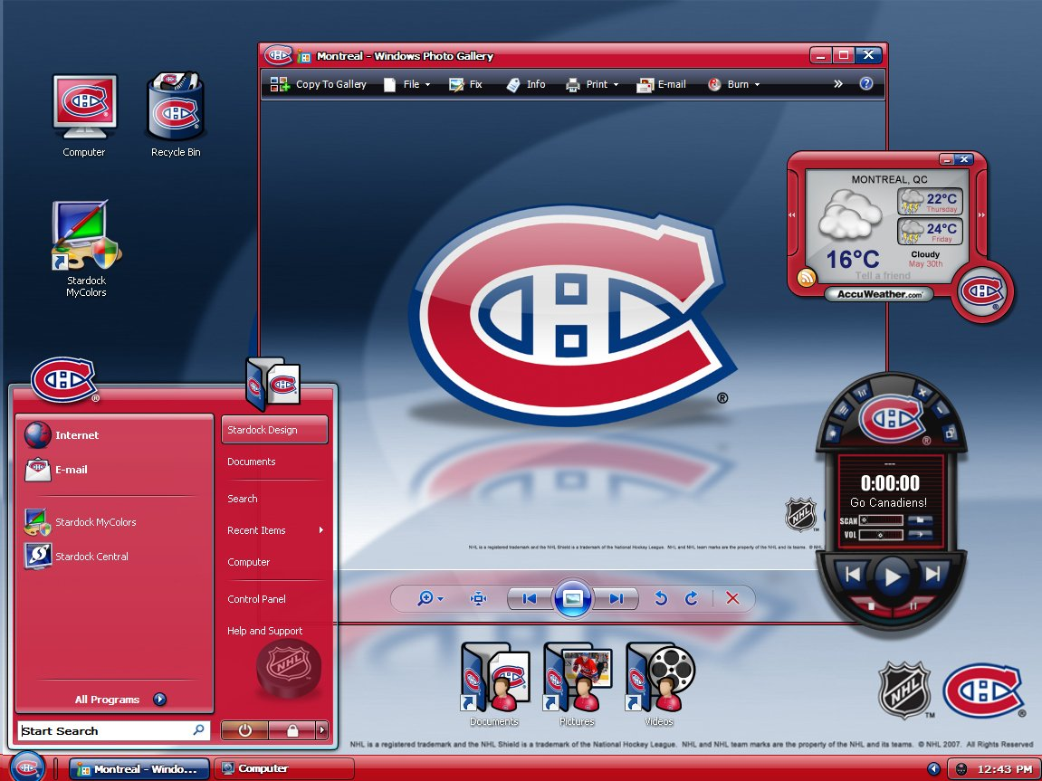 MyColors Montreal Canadiens Desktop Screenshot 3 of 4 1151x863