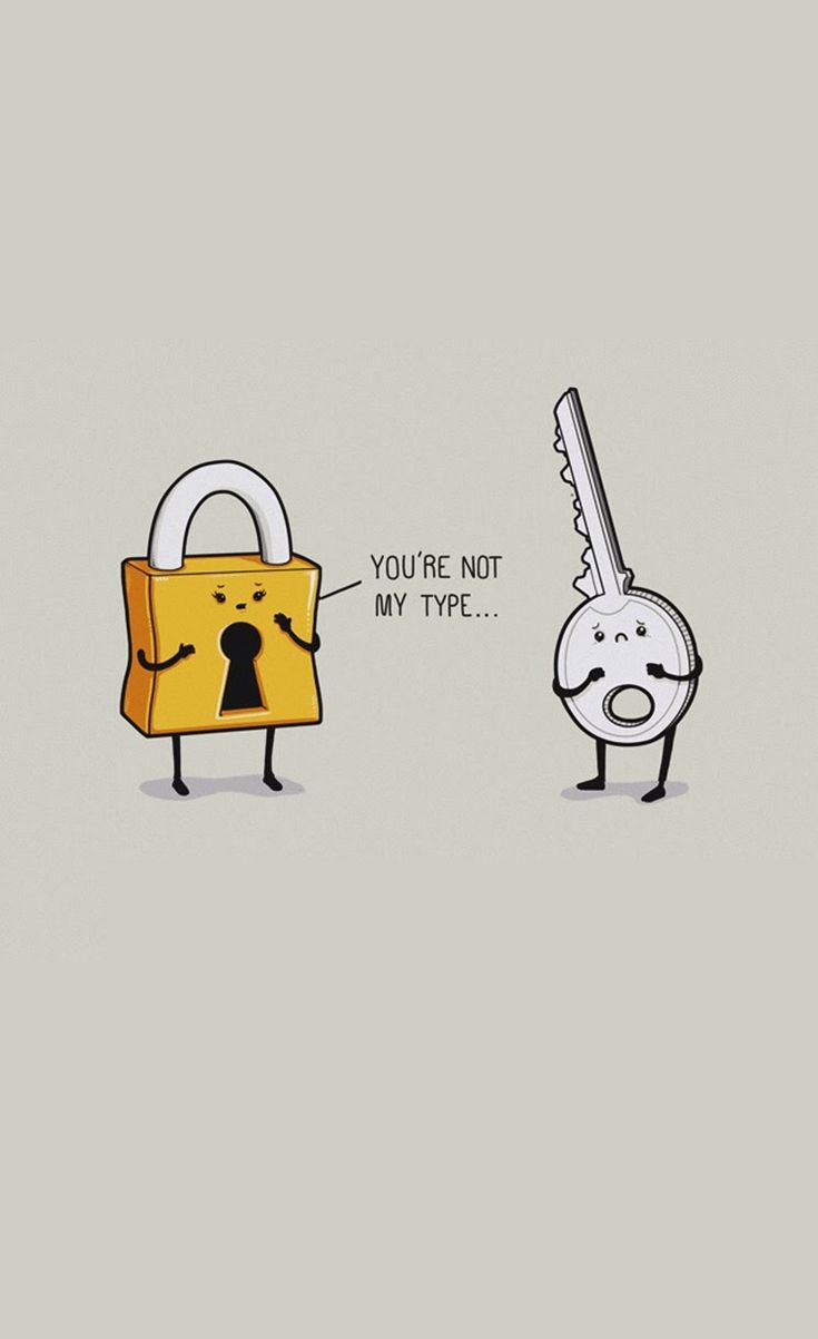 Lock And Key   Funny iPhone wallpapers mobile9 Humor in 2019 735x1202