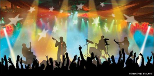 Rock Concert Stage Background Backdrops rock concert 1 530x262