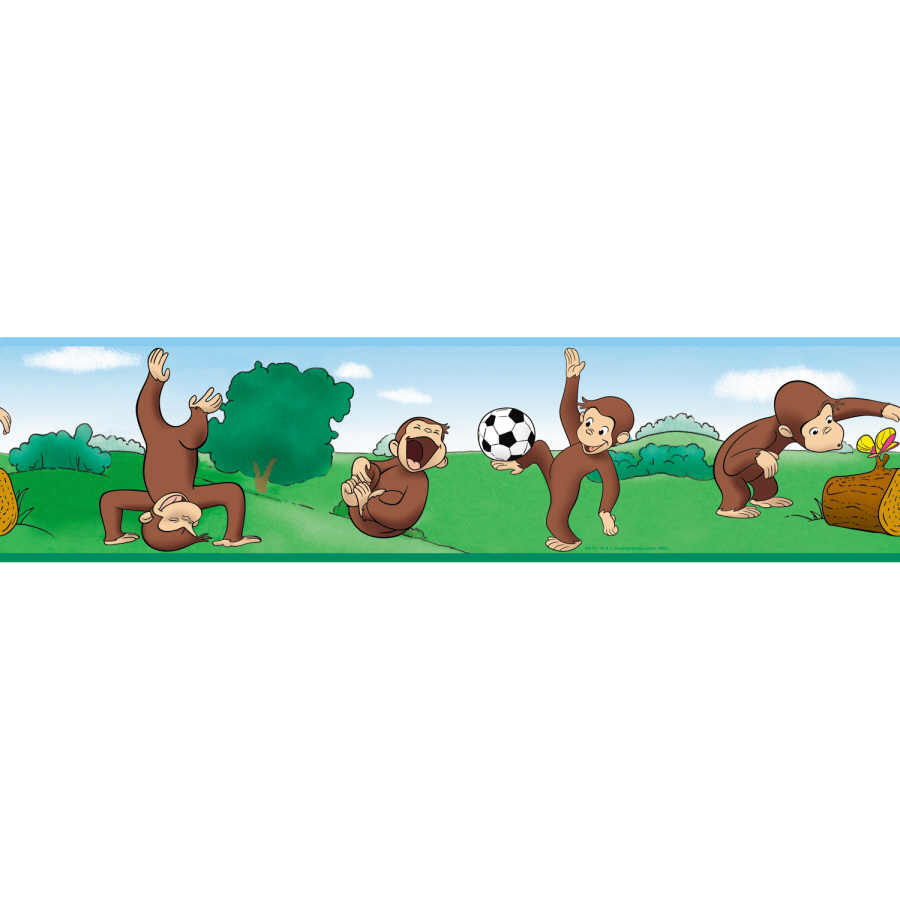Shop RoomMates Curious George Peel and Stick Border at Lowescom 900x900
