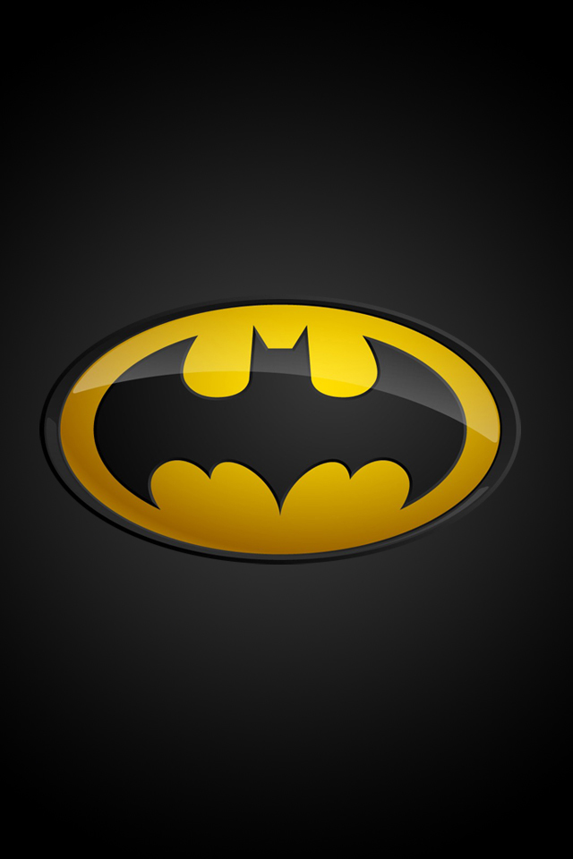 Batman Logo iPhone Wallpaper HD 640x960