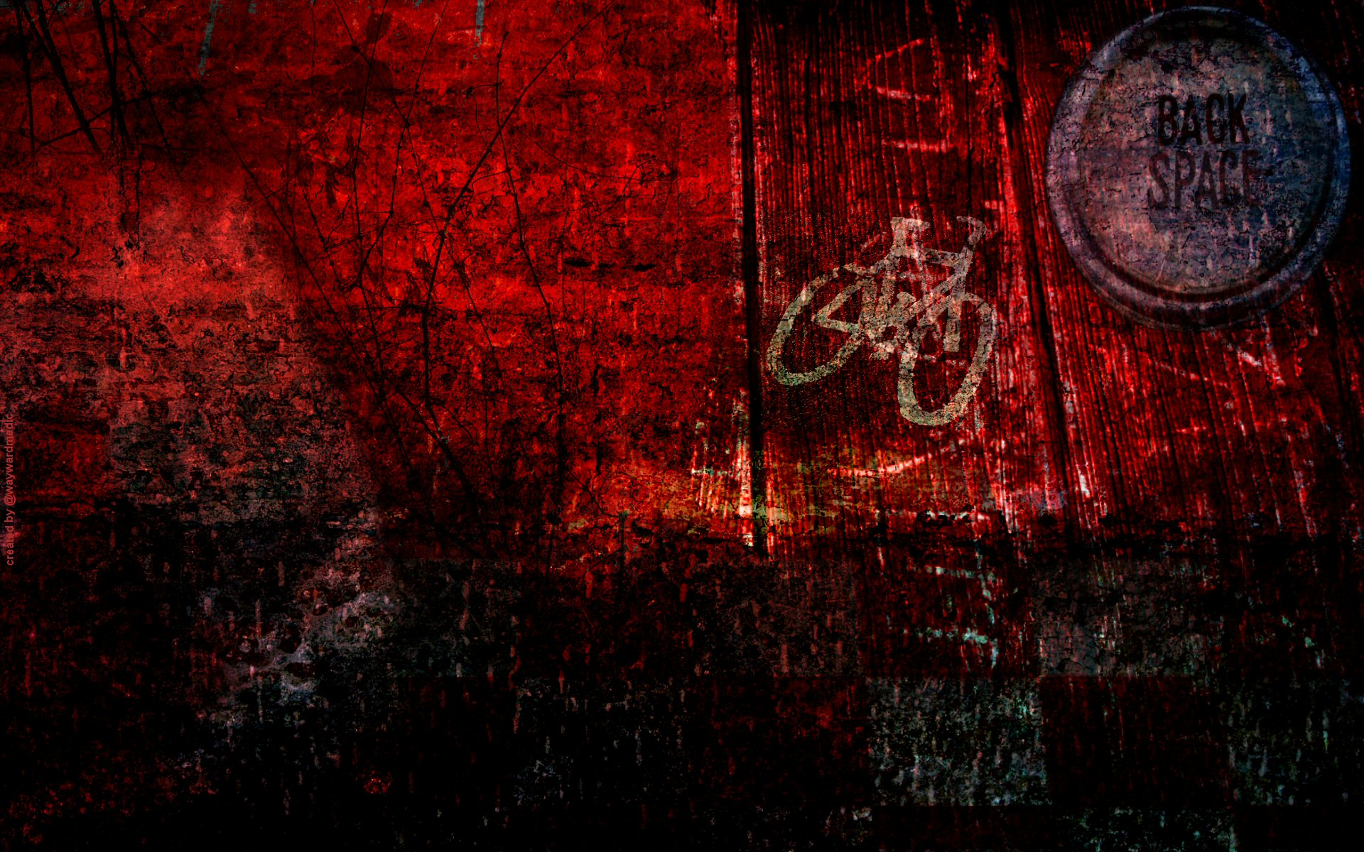 Red grunge twitter background by waywardmedic 1920x1200