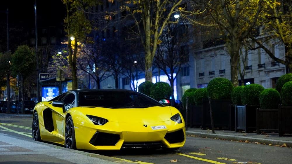 4K Wallpaper Yellow Lamborghini 1000x562