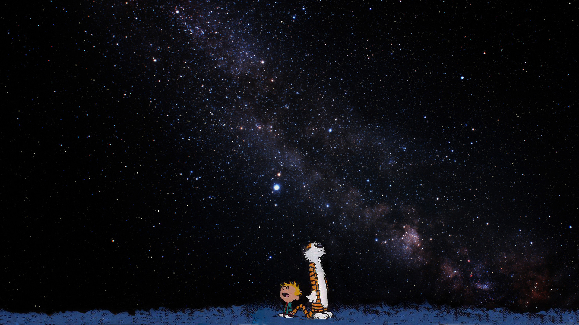 Space Wallpaper 1920x1080 Outer Space Calvin And Hobbes Artwork 1920x1080