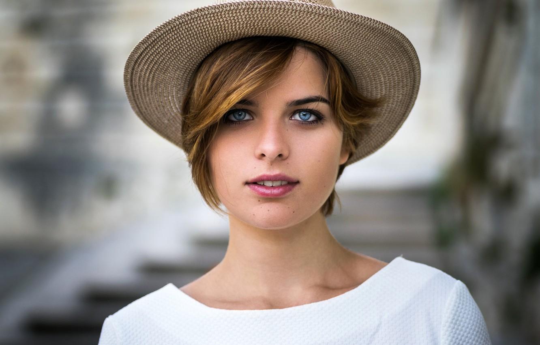 Wallpaper look background model portrait hat makeup 1332x850