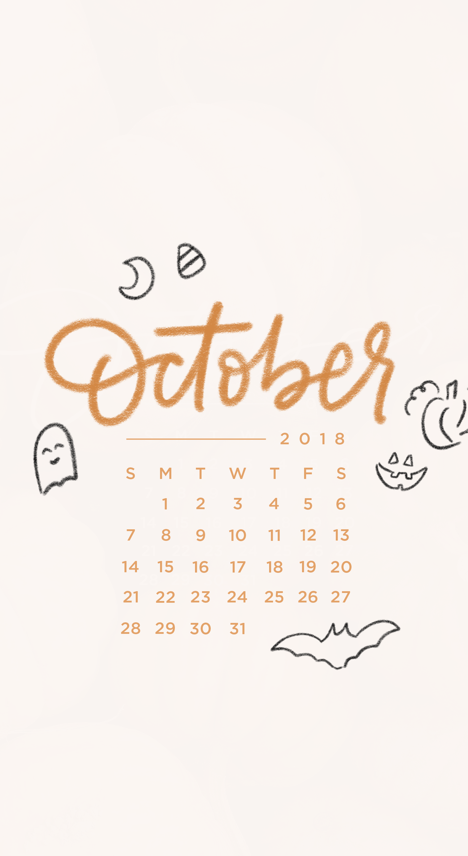 Downloadable Tech Backgrounds for October 2018 The Everygirl 1579x2890