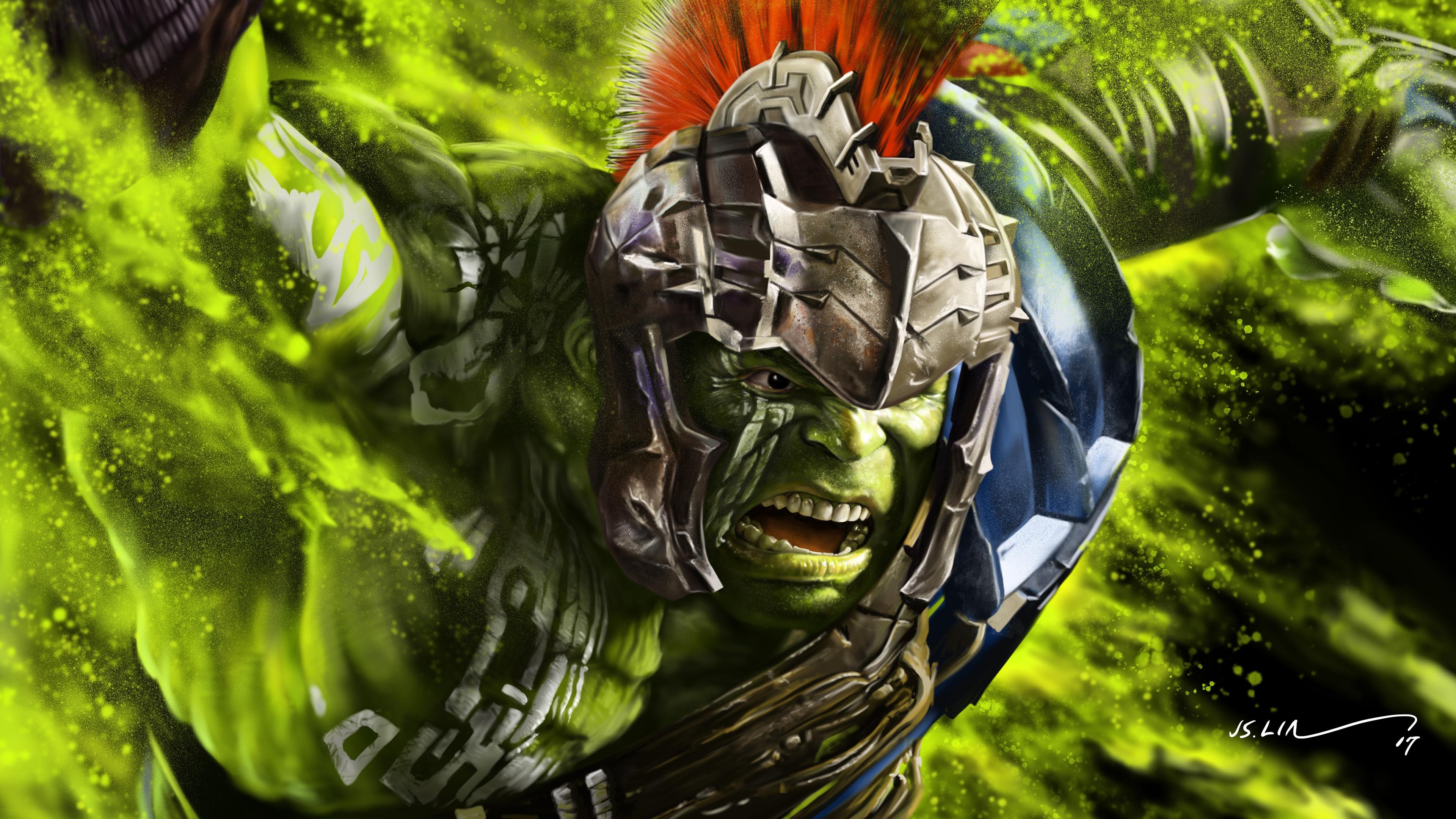 Hulk Thor Ragnarok Artwork 4K Wallpapers HD Wallpapers 3840x2160
