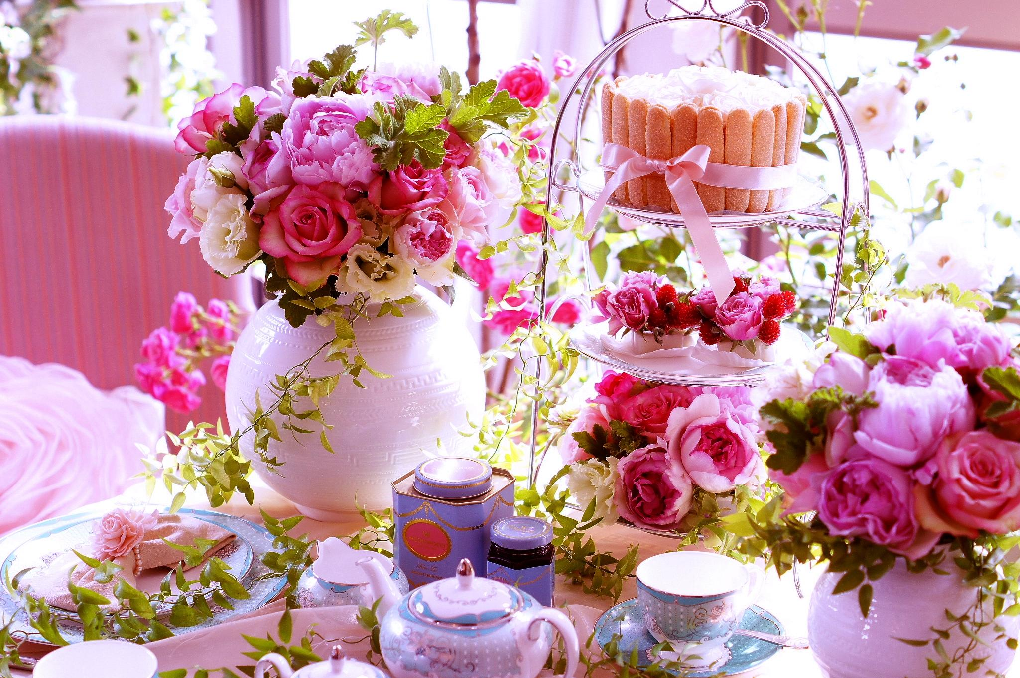 Tea Party Wallpaper Wallpapersafari