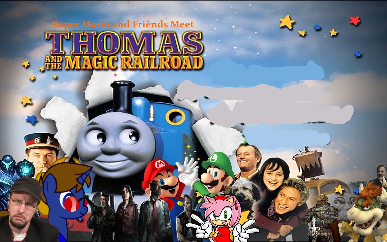 Super Mario and Friends Meet Thomas and the Magic Railroad Super 1440x900