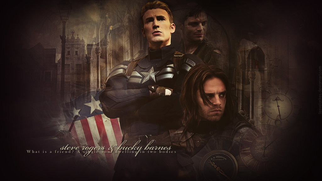 Captain America   Steve Rogers and Bucky Barnes by 1024x576