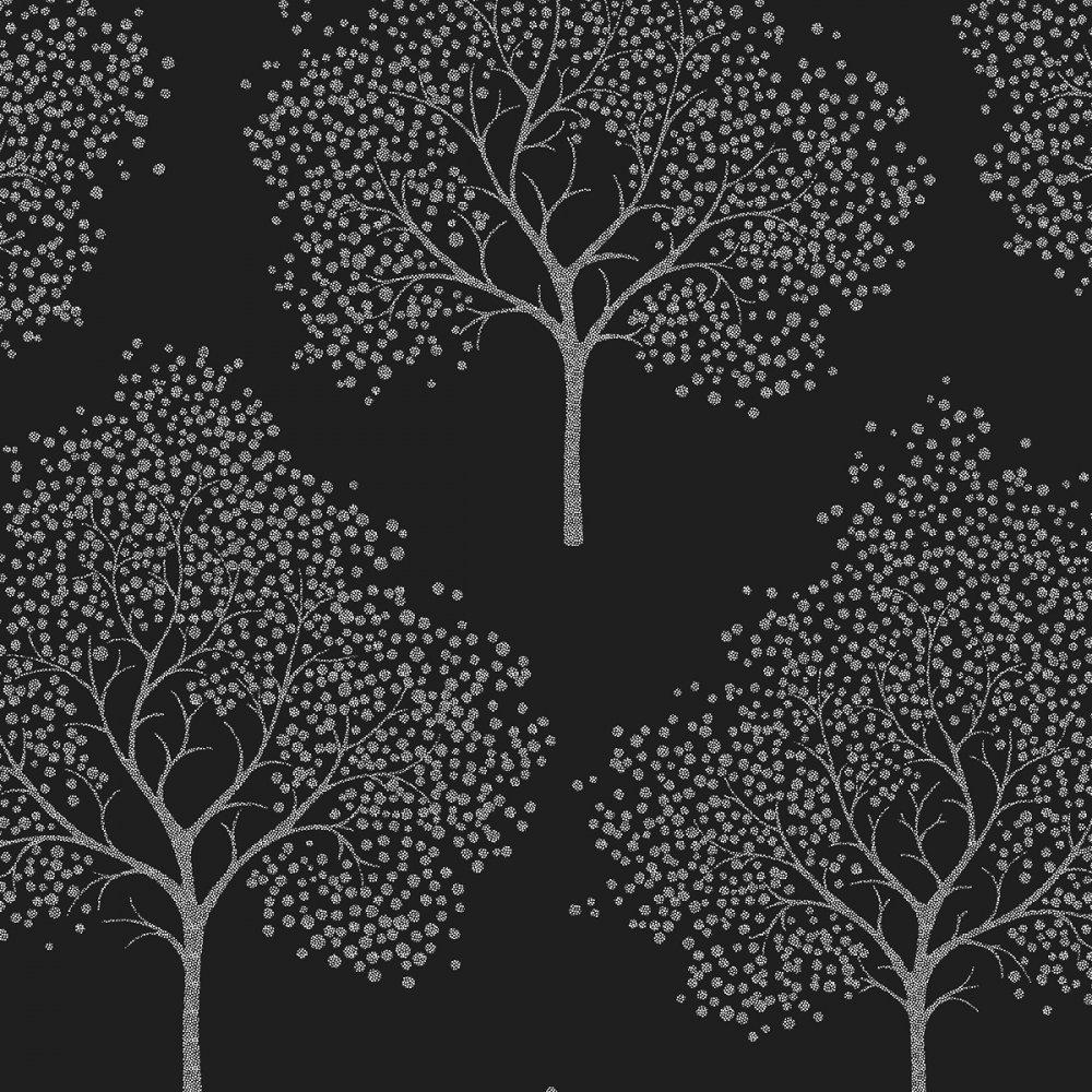 Wallpaper Glitter Tree Wallpaper Black Silver Glitter ILW980028 1000x1000