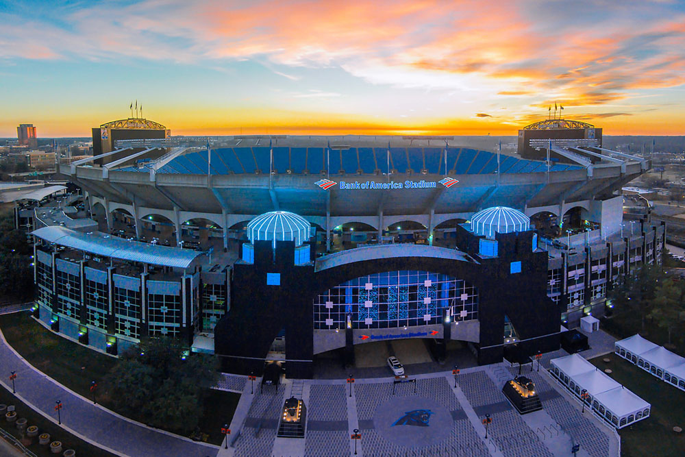 Carolina Panthers Stadium Charlotte 1000x667