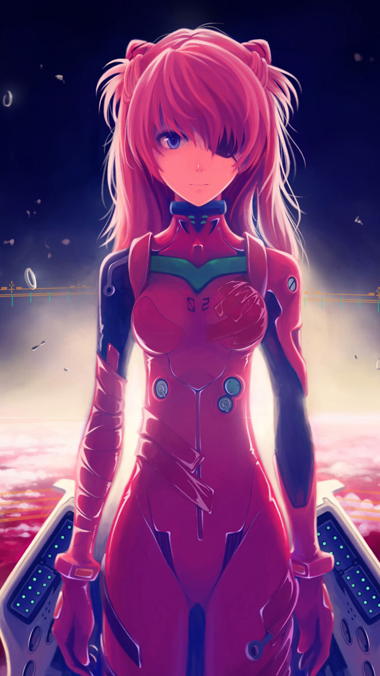 langley soryu anime girl iPhone 6 Wallpapers HD iPhone 6 Wallpaper 750x1334