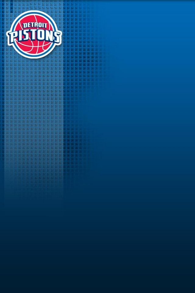 Detroit Pistons logo   Download iPhoneiPod TouchAndroid Wallpapers 640x960