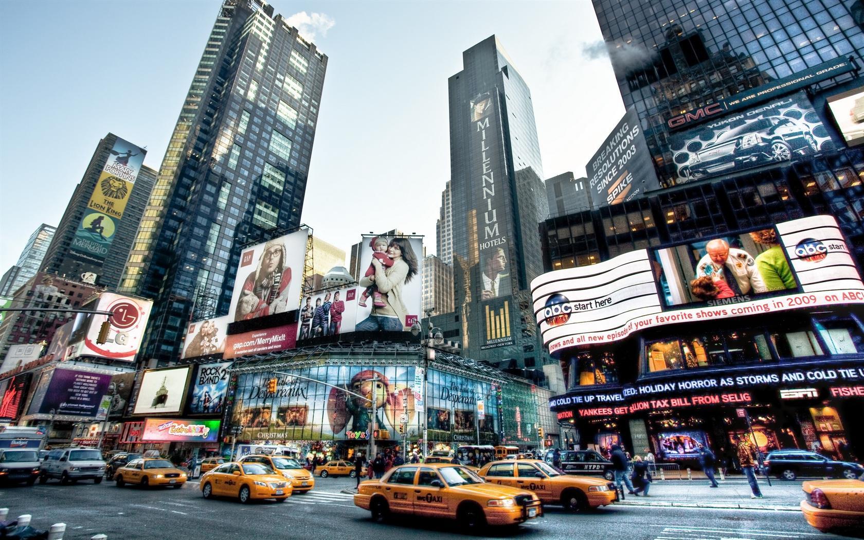 New York City Taxis Desktop Wallpaper Background Desktop Wallpaper 1680x1050