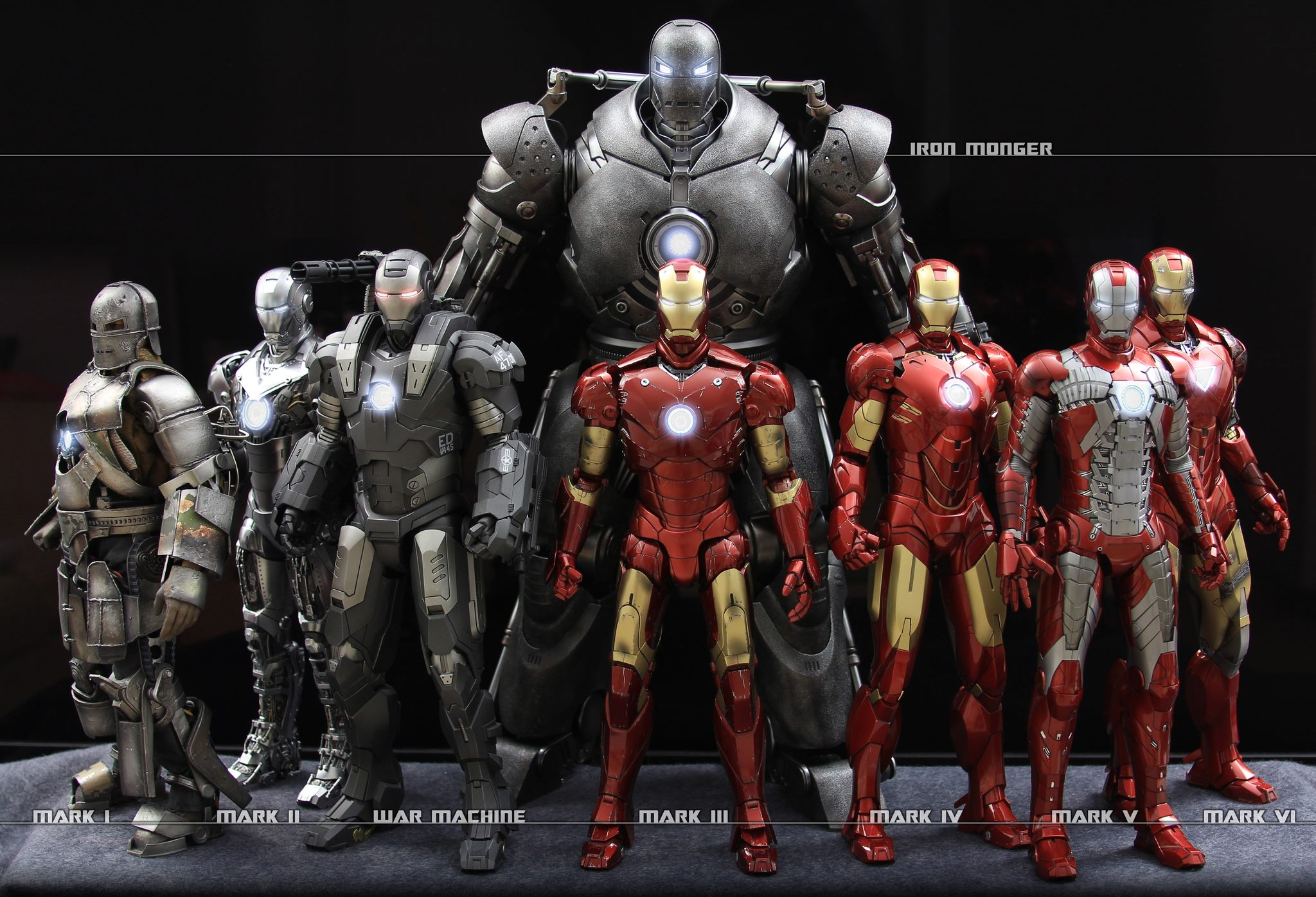 Los trajes de Iron Man hd 2048x1396   imagenes   wallpapers gratis 2048x1396