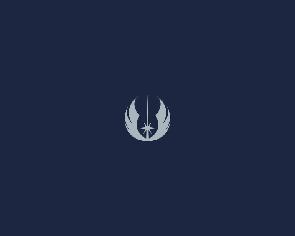 Minimalist Star Wars wallpaper Jedi Emblem by diros 1000x800