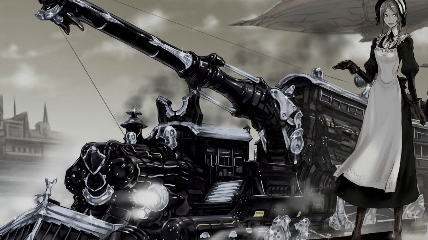 Anime Steampunk Wallpaper 1423x800 Anime Steampunk 1423x800