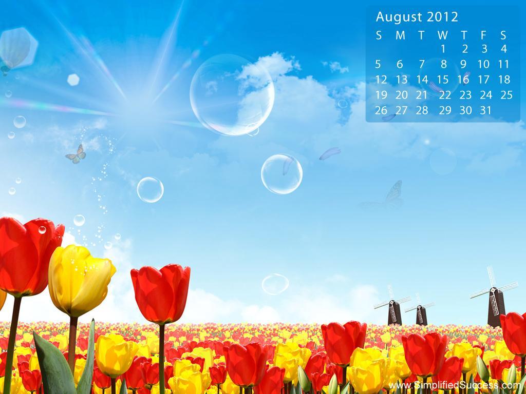 August 2012 Desktop Wallpaper Calendar Calendars Hub 1024x768