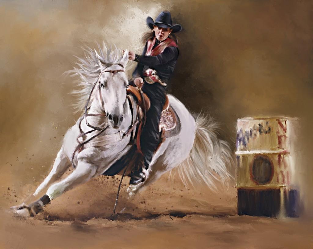 Barrel Racing Paintings for Pinterest 1024x814