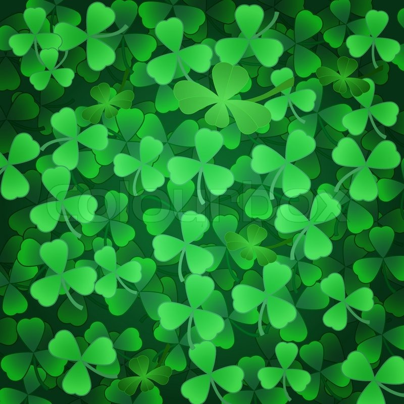 Stock Vector Of Clover Shamrock Green Background To St 800x800