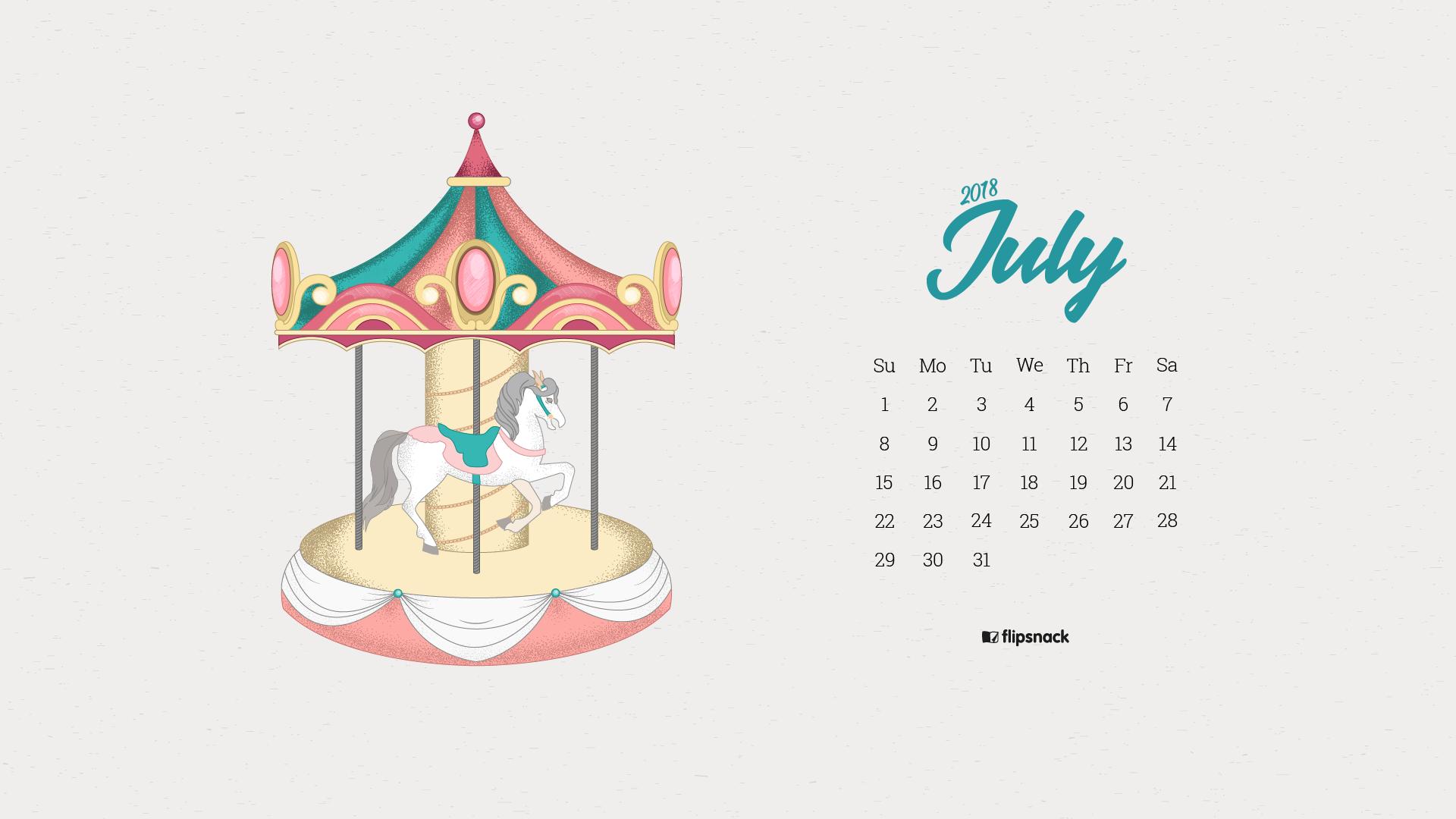 July 2018 wallpaper calendar   Flipsnack Blog 1920x1080