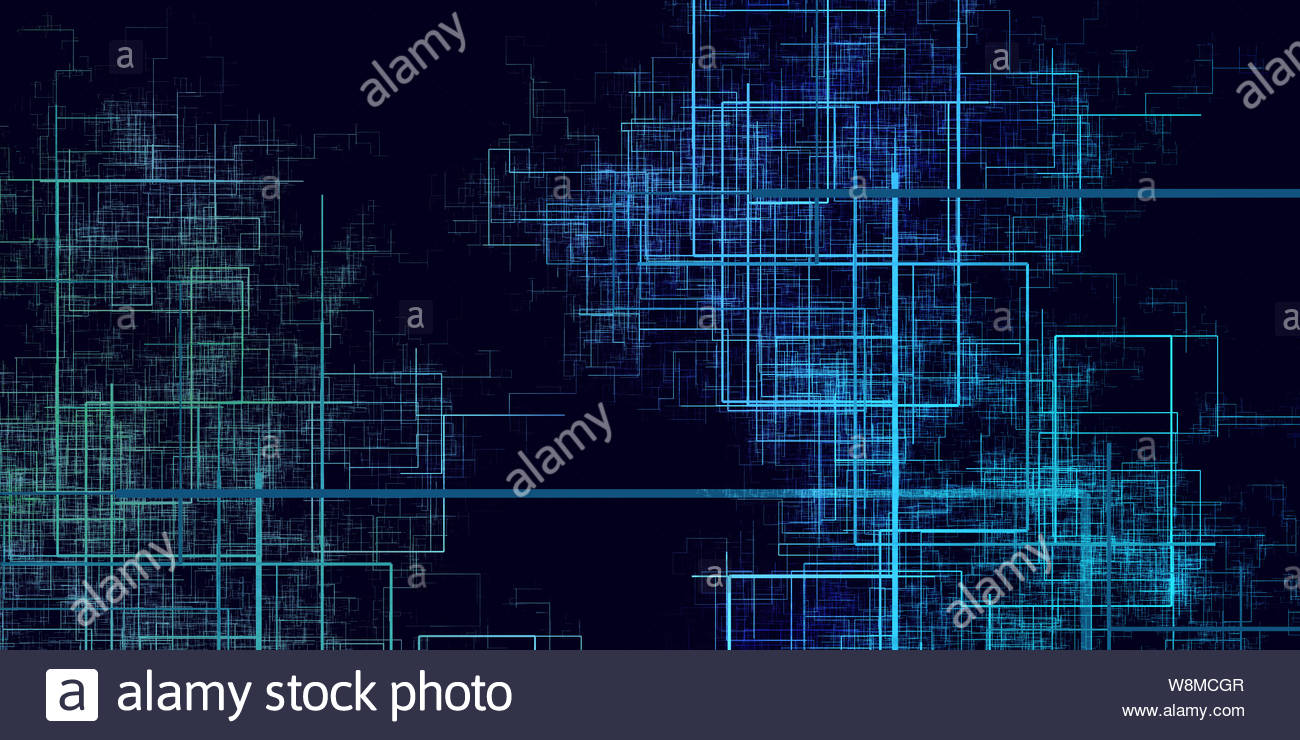 Digital Circuits Background in a Technology Network Art Stock 1300x740
