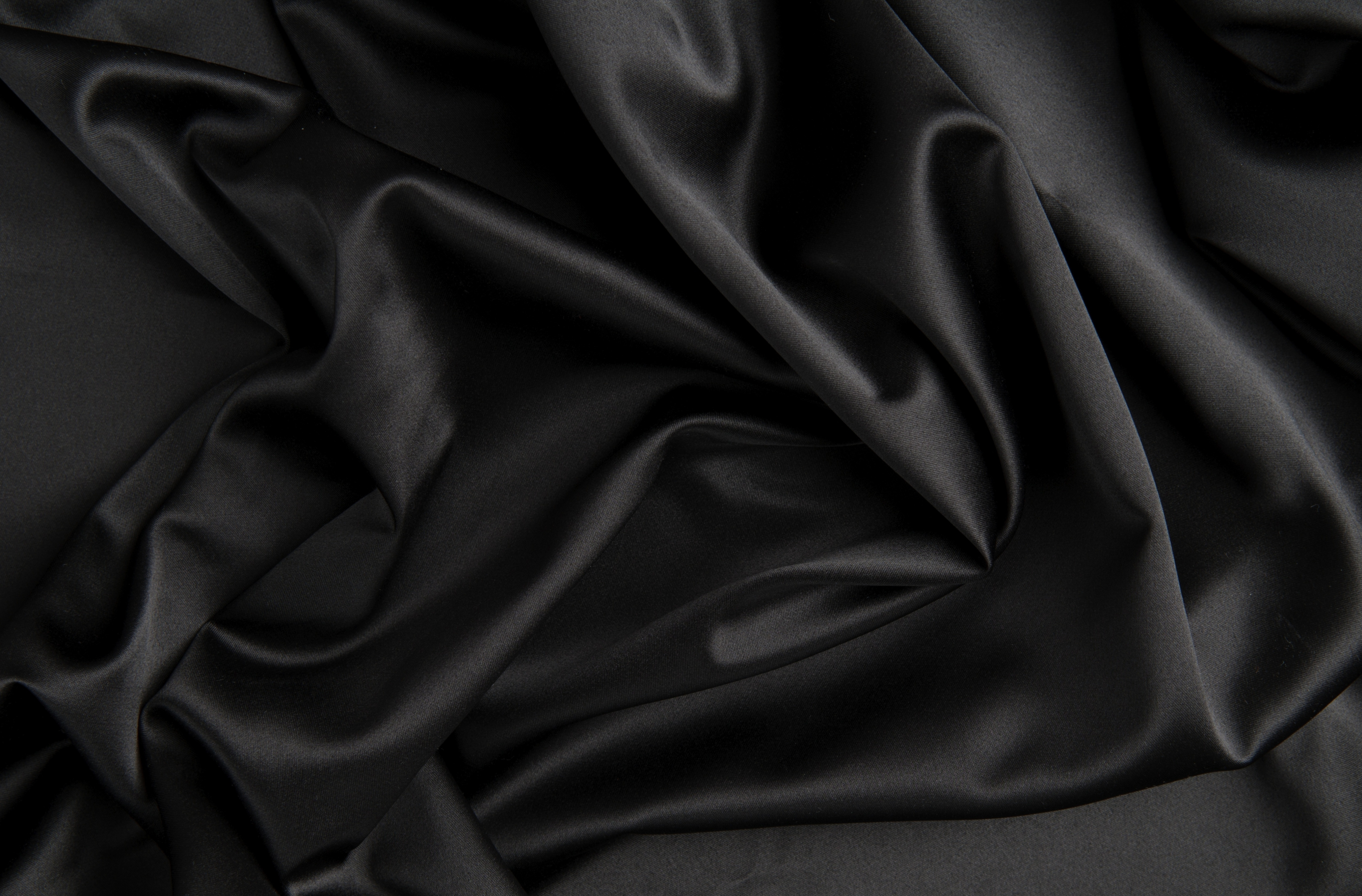 4K wallpaper   satin   black texture Cloth folds silk satin 5000x3290