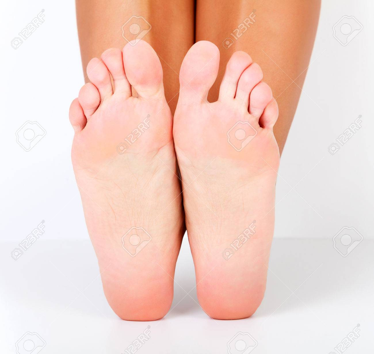 Female Bare Feet On White Background Stock Photo Picture And 1300x1232